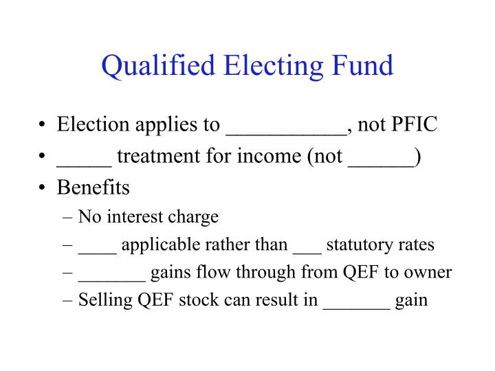 Qualified Electing Fund