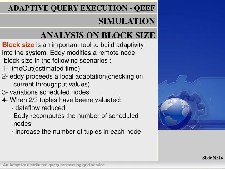 ADAPTIVE QUERY EXECUTION - QEEF