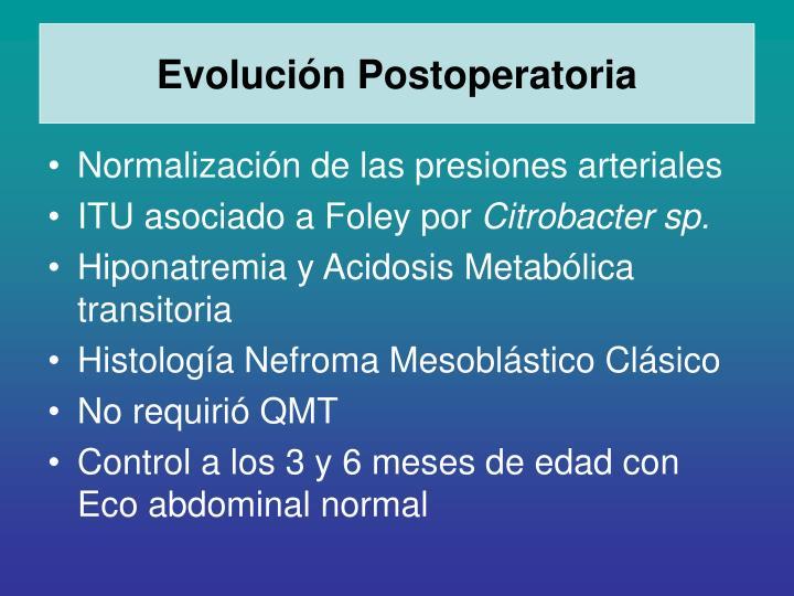 Evolución Postoperatoria