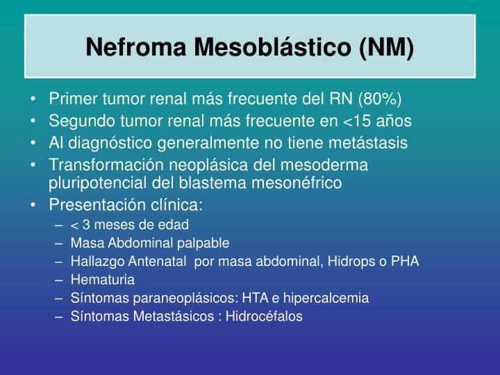 Nefroma Mesoblástico (NM)