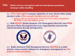 t2c public service emergency and non emergency operations message traffic handling