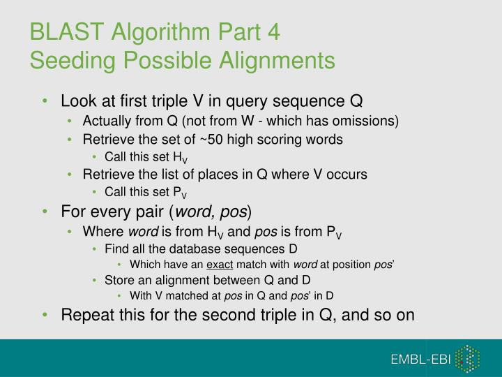 BLAST Algorithm Part 4