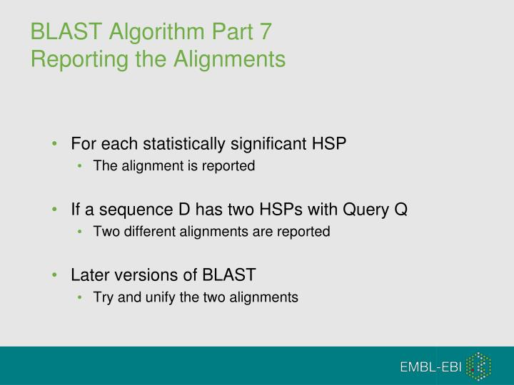 BLAST Algorithm Part 7