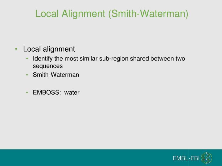 Local Alignment (Smith-Waterman)