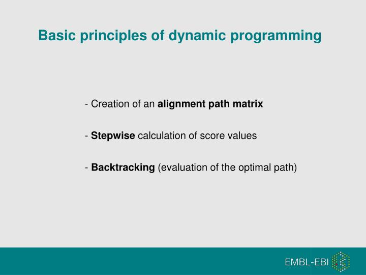 Basic principles of dynamic programming