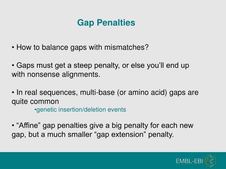Gap Penalties