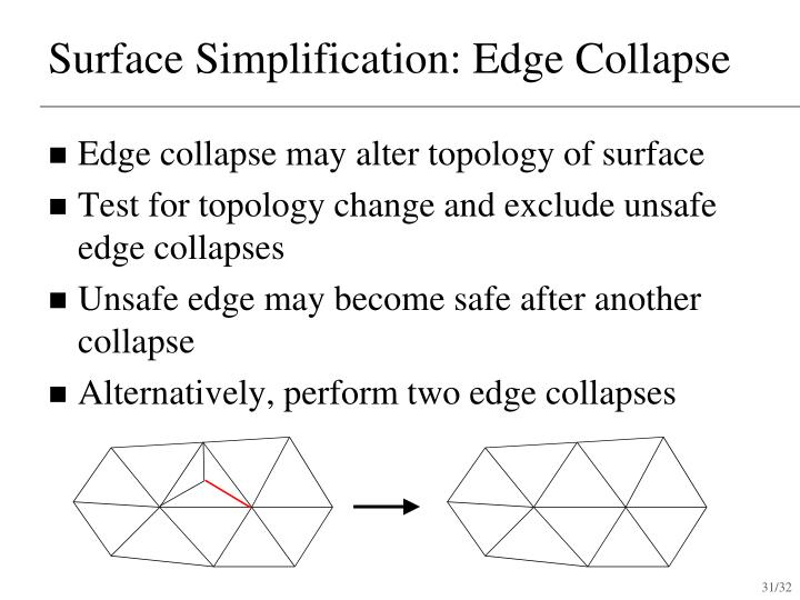 Surface Simplification: Edge Collapse