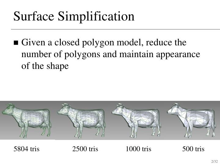 Surface simplification1
