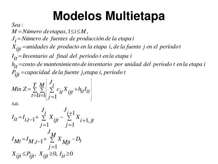Modelos Multietapa