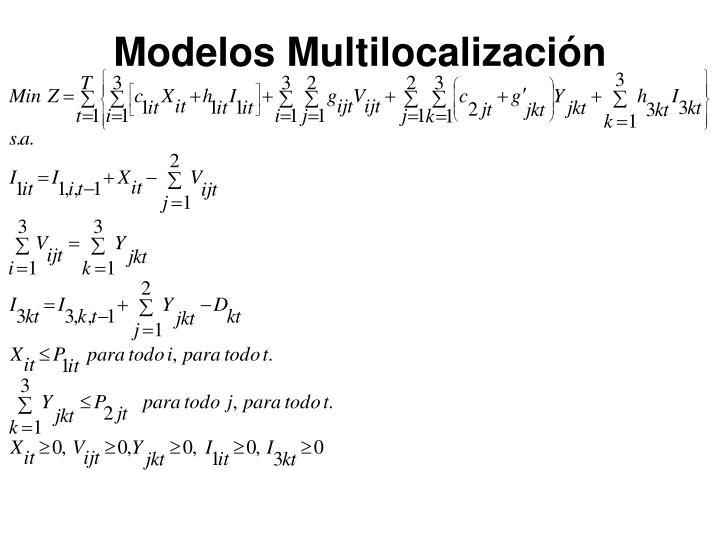 Modelos Multilocalización