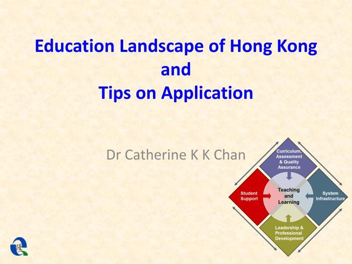 Education Landscape of Hong Kong