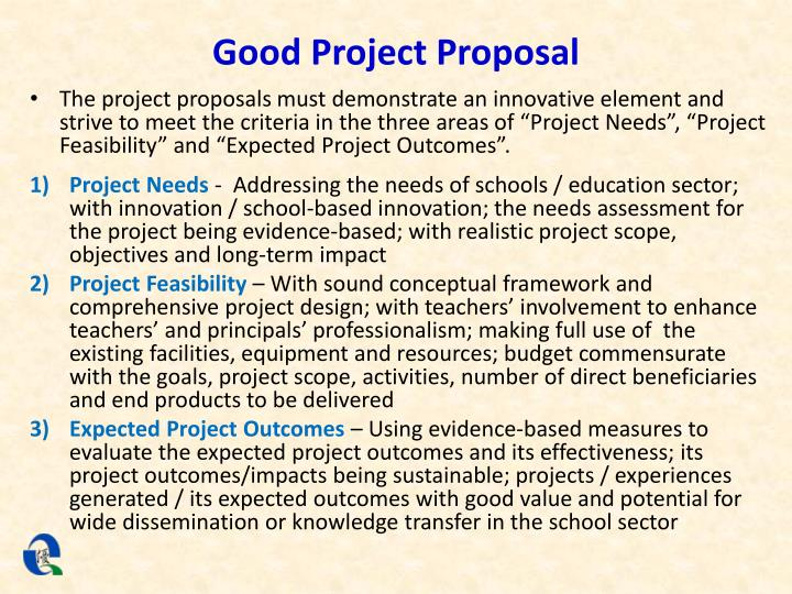 Good Project Proposal