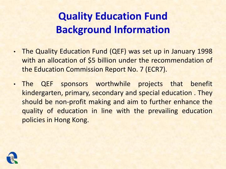 Quality Education Fund
