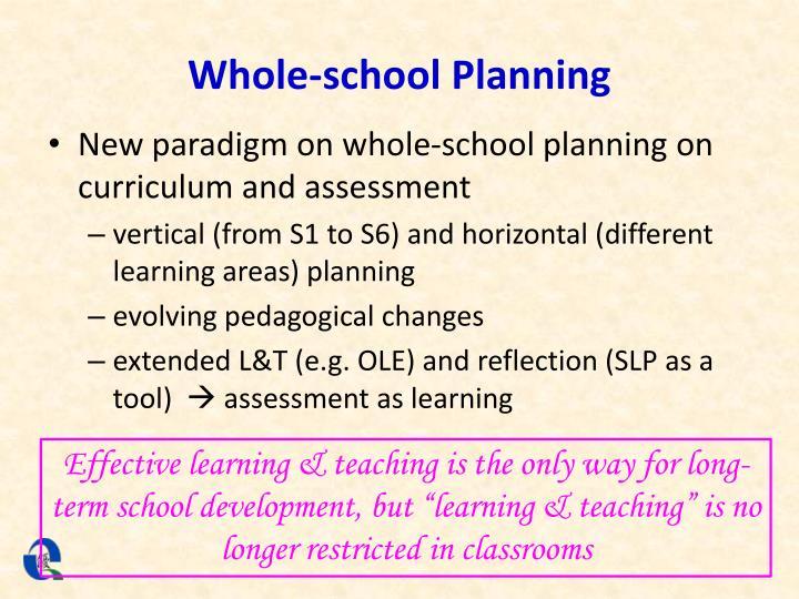 Whole-school Planning