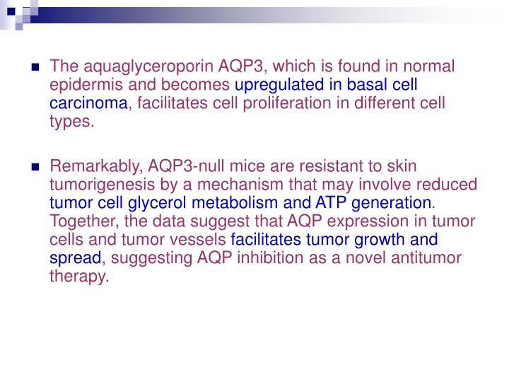 The aquaglyceroporin AQP3, which is found in normal epidermis and becomes