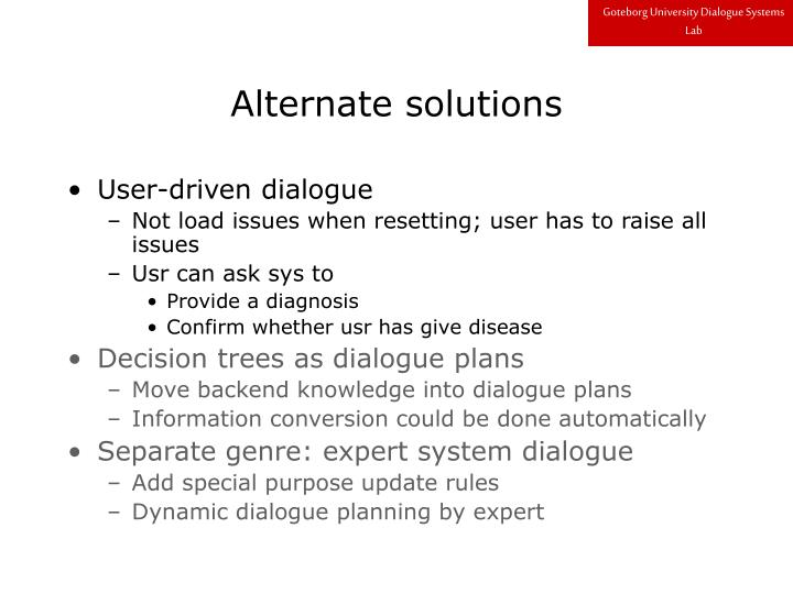 Goteborg University Dialogue Systems Lab