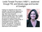 leslie temple thurston 1950 awakened through tm and advaita sage and founder of corelight