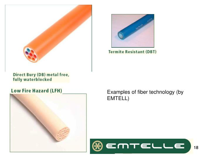 Examples of fiber technology (by EMTELL)