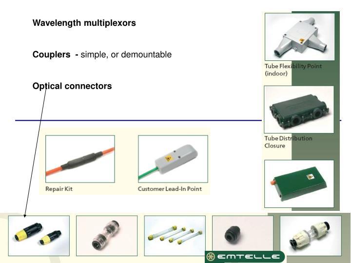 Wavelength multiplexors
