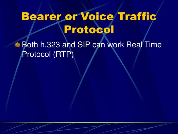 Bearer or Voice Traffic Protocol