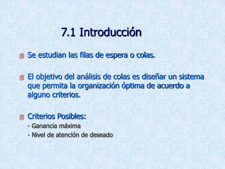 7.1 Introducción