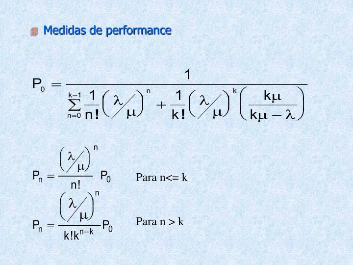 Medidas de performance