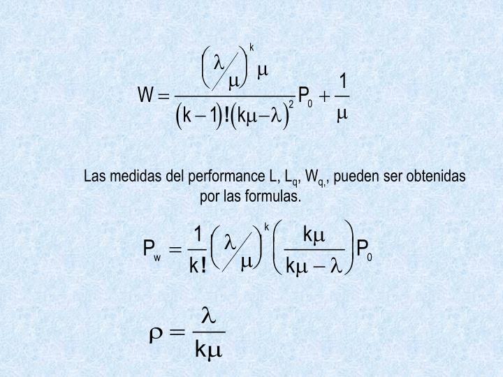 Las medidas del performance L, L