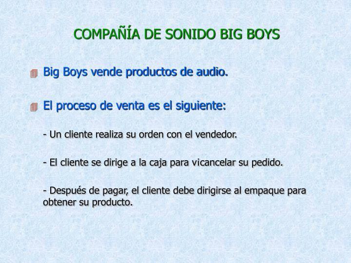 COMPAÑÍA DE SONIDO BIG BOYS
