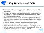 key principles of aqp