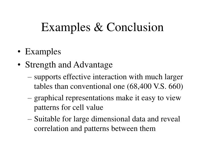 Examples & Conclusion