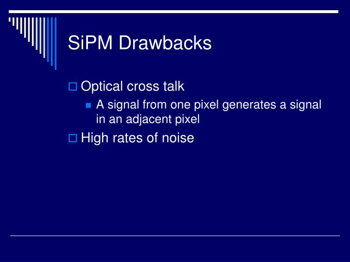 SiPM Drawbacks