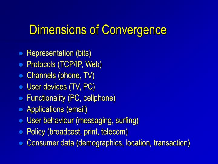 Dimensions of Convergence