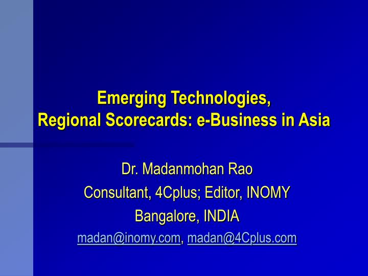 Emerging Technologies,