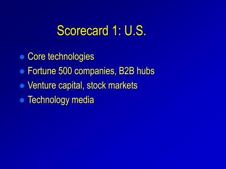 Scorecard 1: U.S.