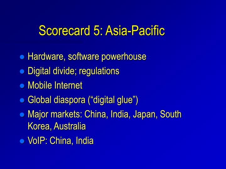 Scorecard 5: Asia-Pacific