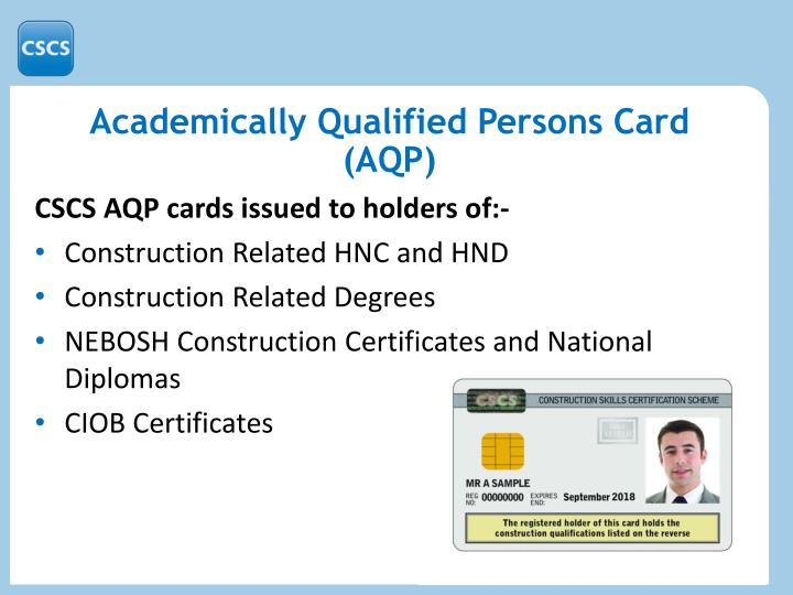 Academically Qualified Persons Card (AQP)