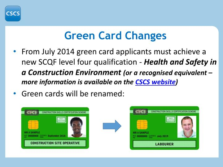 Green Card Changes