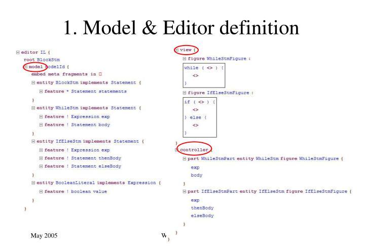 1. Model & Editor definition
