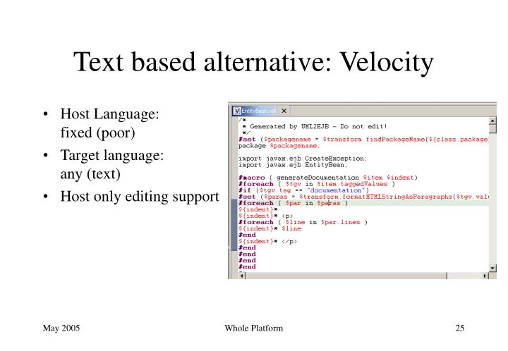 Text based alternative: Velocity