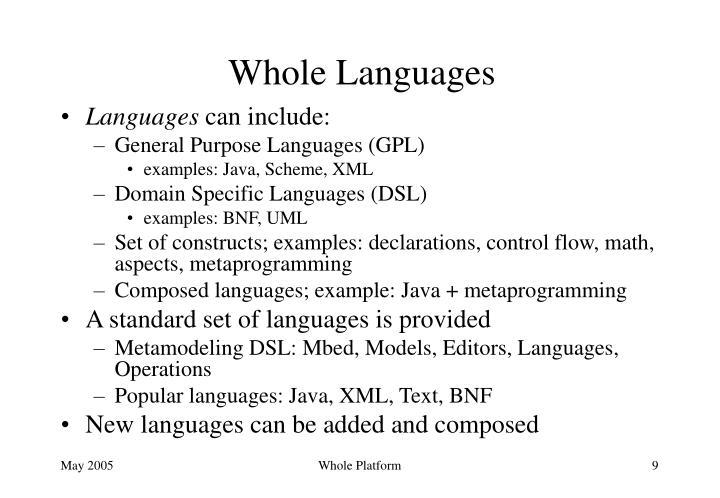Whole Languages