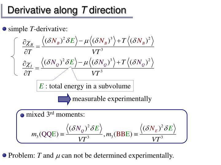 Derivative along