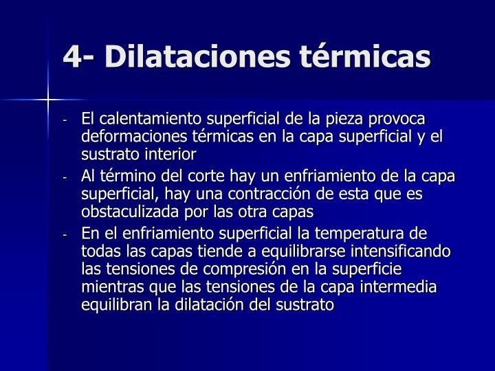 4- Dilataciones térmicas