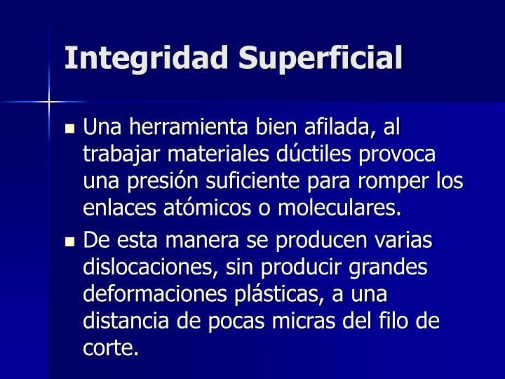 Integridad Superficial