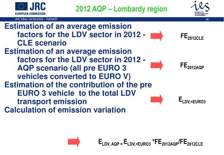 2012 AQP – Lombardy region