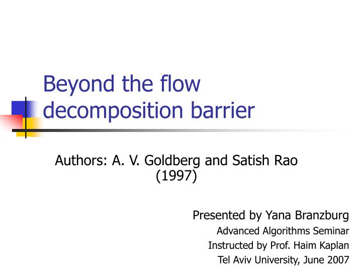 beyond the flow decomposition barrier