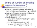 bound of number of blocking augmentations cont1