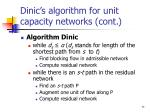 dinic s algorithm for unit capacity networks cont