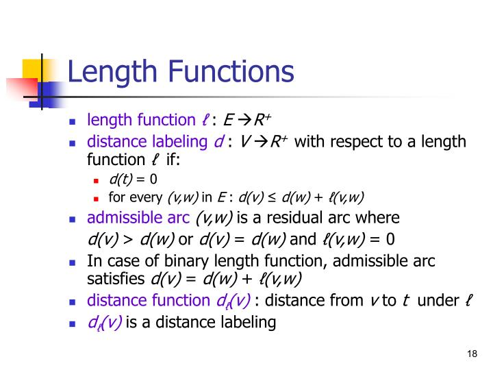 Length Functions