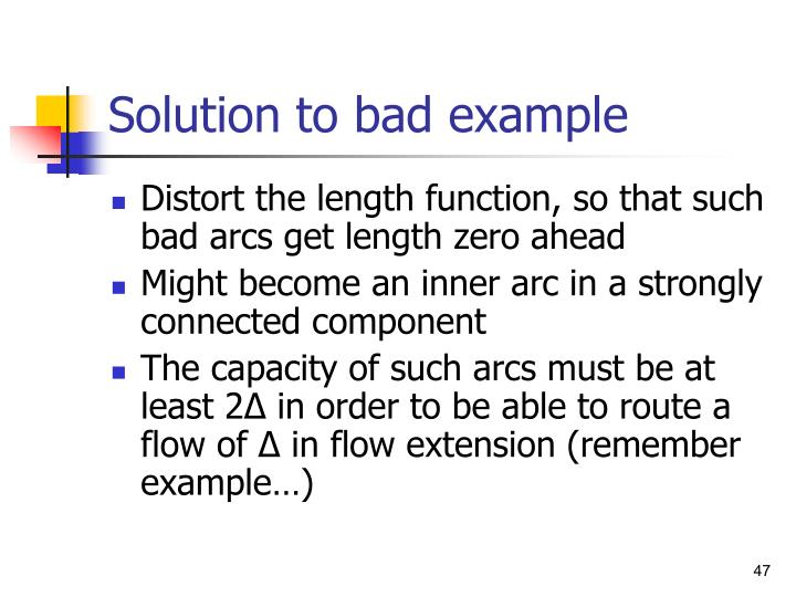 Solution to bad example