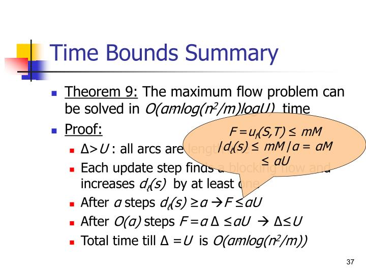 Time Bounds Summary